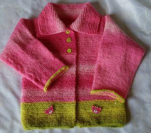 saco o chaqueta o yaqueta tejido para niño o niña